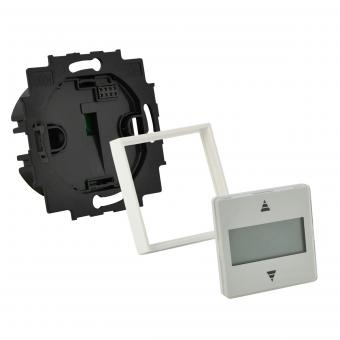 GEBA Rollotimer Zeitschaltuhr für Rolladenmotor mit Zwischenrahmen für Gira